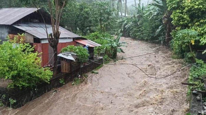 Hujan Berjam-jam, Debit Air di Sejumlah Sungai Kering di Siau Mulai Meningkat