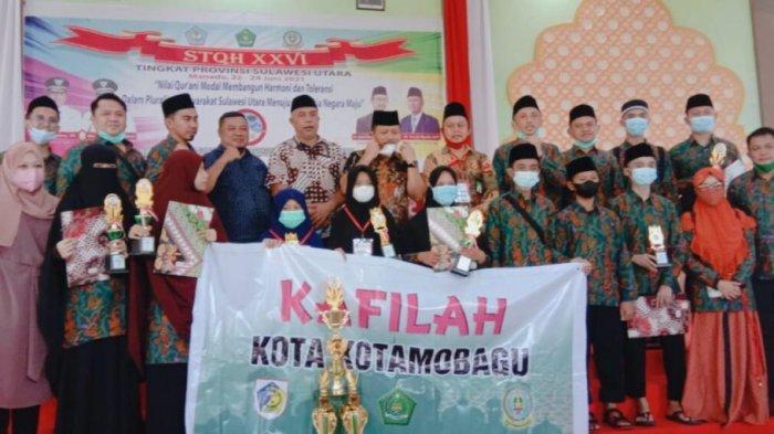 Kafilah Kota Kotamobagu Juara Umum STQH 2021 Sulawesi Utara, Wali Kota Tatong Bara Bangga