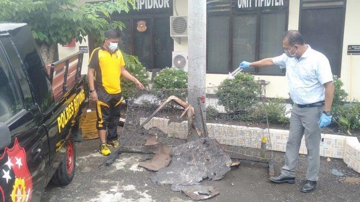 Kamar Anggota DPRD Bitung Terbakar, Polisi Amankan Galon, Diduga Tempat Isi Bensin