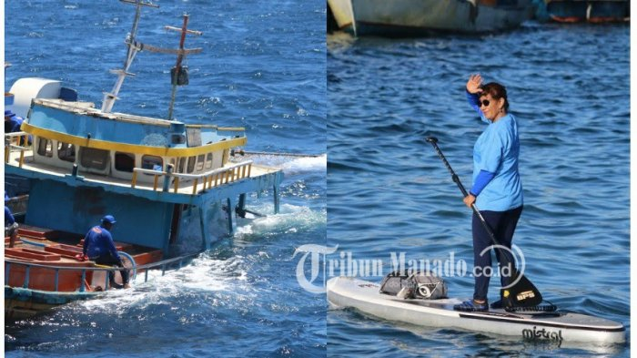7 Fakta Menarik Menteri Susi di Bitung, Pantau Selat Lembeh hinggaKomandoi Penenggelaman 125 Kapal