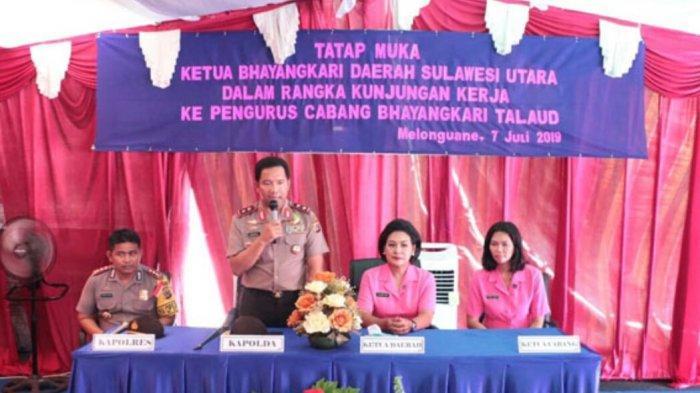 Kapolda Sulut Sambangi Talaud, Apresiasi Peran Bhayangkari Sukseskan Pemilu Serentak 2019