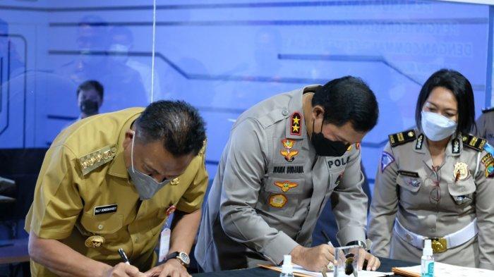 Kapolda Sulut Irjen Nana Sudjana Tandatangan MoU Pengintegrasian CCTV