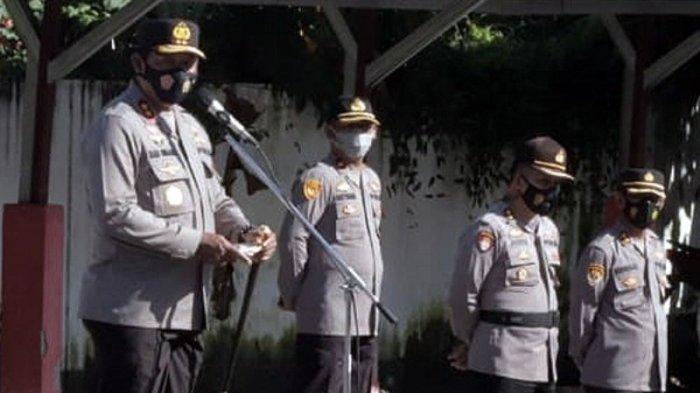 Pimpin Apel Perdana di Polda Sulut, Kapolda Irjen Pol Nana Sudjana Ingatkan Protokol Kesehatan 3M