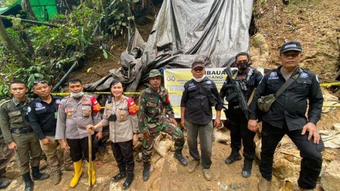 AKBP Nova Surentu Jalan Kaki 2 Jam untuk Tutup Tambang Ilegal di Kawasan Hutan Lindung