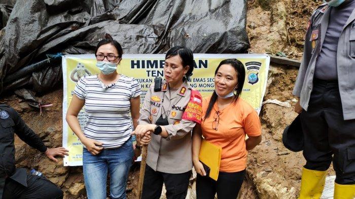 Update, 2 Lobang Tambang Ilegal di Kawasan Hutan Lindung Ditutup Polres Bolmong