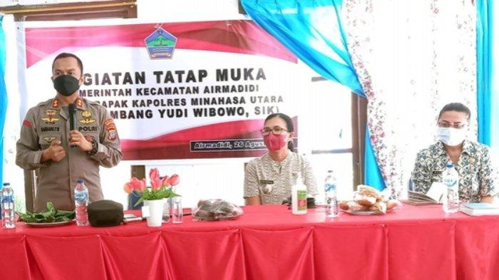 Kapolres MInut AKBP Bambang Yudi Tatap Muka Bersama Pemerintah Kecamatan Airmadidi