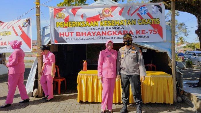 Sambut HUT Bhayangkara, Polres Bolsel Gelar Pemeriksaan Kesehatan Gratis
