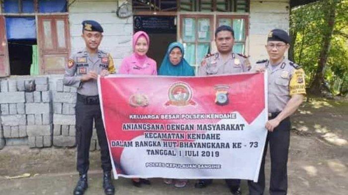 HUT ke-73 Bhayangkara, Warga Tak Mampu Dapat Sembako dari Polisi