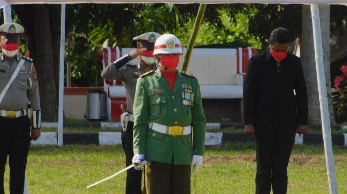 Kapten Infantri Wemfryd Salebar Inspektur Upacara Peringatan HUT RI Ke-76 di Minahasa