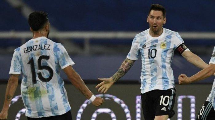 LIVE STREAMING Argentina vs Brazil, Duel Final Copa America 2021, Pertemuan Messi dengan Neymar