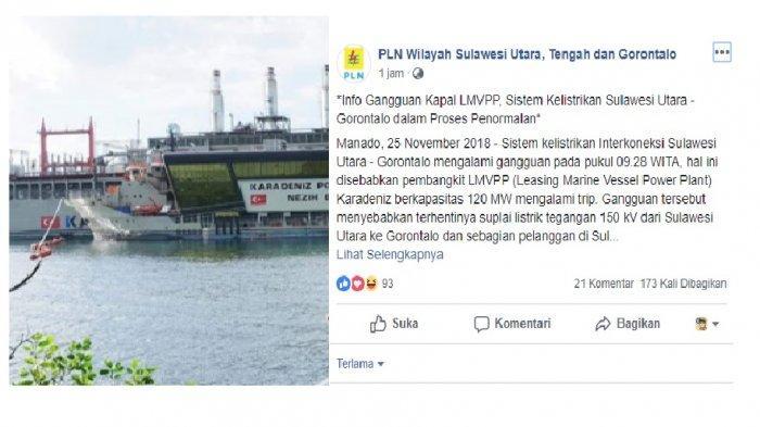 Ini Penjelasan PLN Suluttenggo terkait Pemadaman Listrik yang Terjadi pada Minggu pagi
