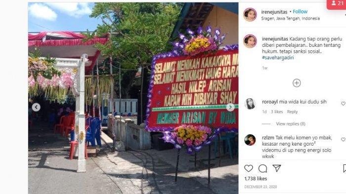 Pesta Pernikahan Heboh Gegara Muncul Karangan Bunga Bertuliskan Selamat Menikmati Uang Haram 1 M
