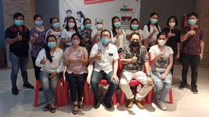 Ikuti Arahan Khusus Wali Kota Manado Andrei Angouw, Ratusan Karyawan Aprindo Divaksinasi