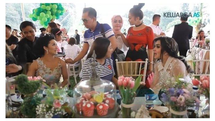 KD, Ashanty, dan Syahrini di acara ulang tahun Raja dan Ratu