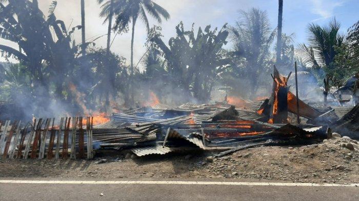 BREAKING NEWS, Kebakaran Terjadi di Tomini Bolsel, Rumah Mulyadi Mooduto RataTanah