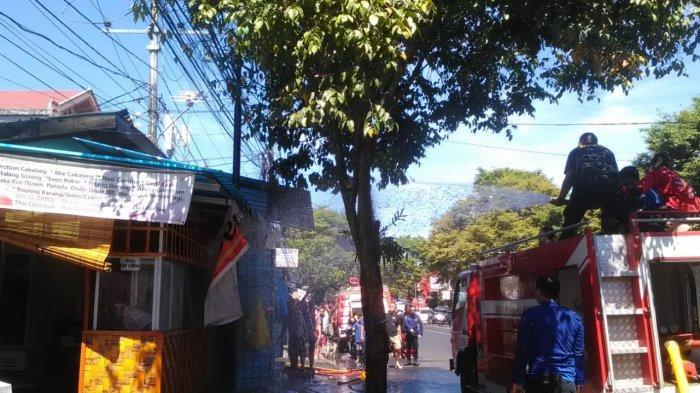 BREAKING NEWS, Toko dan Rumah Makan di Malalayang Terbakar