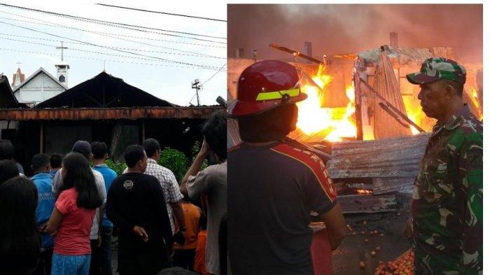 6 Jam, 2 Kebakaran Terjadi di Bitung, 265 Kios Pasar Girian Terbakar hingga Rumah Lansia84 tahun