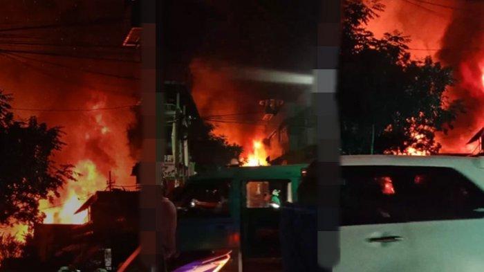 Kebakaran rumah terjadi di Kelurahan Dendengan Luar, Kota Manado, Senin (3/5/2021)malam.