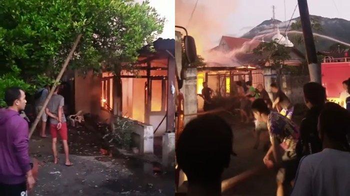 Screenshot FB warga Peristiwa Kebakaran Rumah warga di lorong City Mart Bitung RT 08 Lingkungan 1 kelurahan Bitung Barat 2 Kecamatan Maesa Kota Bitung, Provinsi Sulawesi Utara (Sulut).