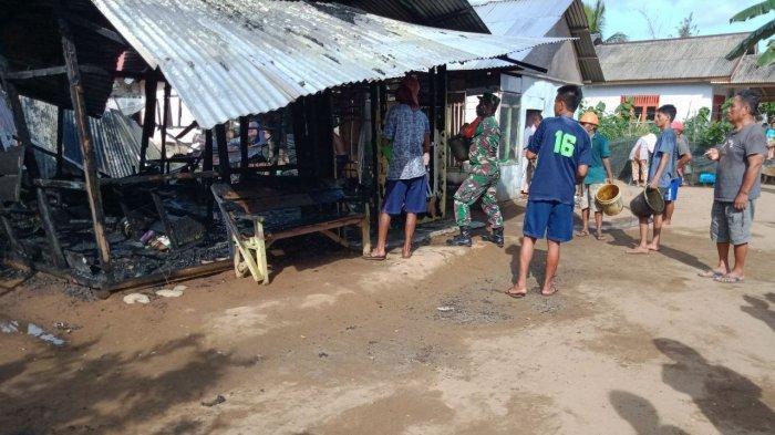 Kebakaran di Desa Sondana Bolsel, Tetangga Lihat Api dari Dapur Rumah Yasin