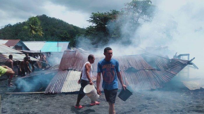 Rumah Permanen di Kelurahan Batu Putih Bitung Ludes Terbakar, Kerugian Mencapai 50 Juta Rupiah
