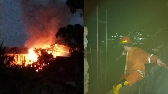 Kebakaran Terjadi di Bailang Manado, Api Dipicu Dari Arus Pendek