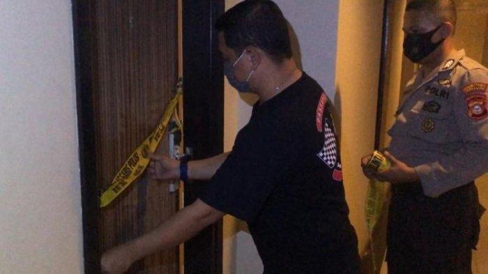 Kebakaran yang disebabkan eks pasangan suami istri di salah satu hotel di Kecamatan Panakkukang, Makassar, Selasa (15/9/2020) malam.
