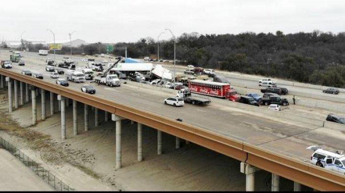 Kecelakaan Maut Beruntun, 5 Orang Tewas Libatkan 133 Kendaraan