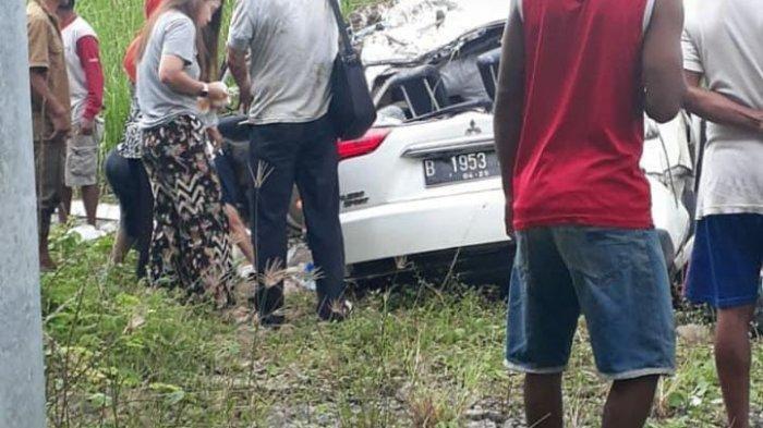 Kecelakaan di jalan Tol Solo- Kertosono, tepatnya di desa Sindon, Kecamatan Ngempak, <a href='https://manado.tribunnews.com/tag/boyolali' title='Boyolali'>Boyolali</a>, Sabtu (26/12/2020).