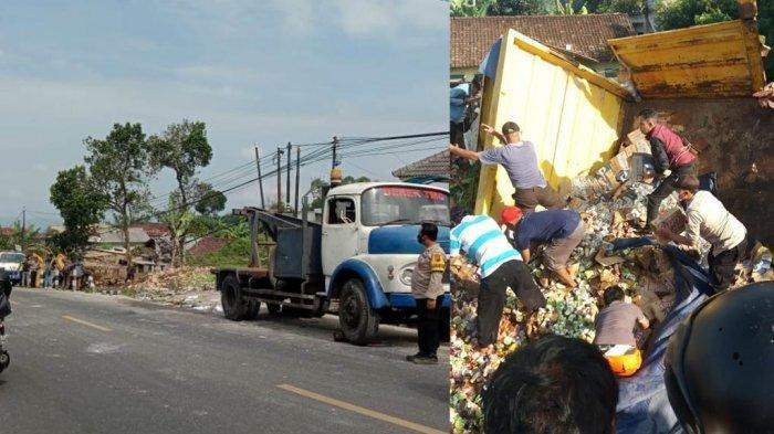 Kecelakaan Maut, 4 Pengendara dan Pembonceng Motor Tewas, Truk Rem Blong Hantam Motor dan Mobil