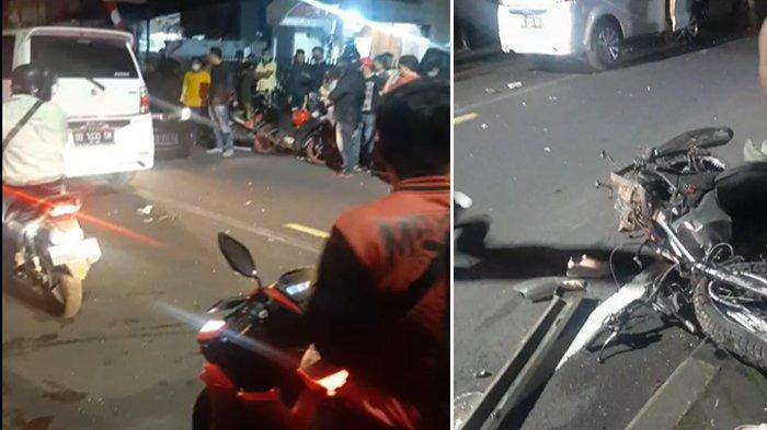 Breaking News, Kecelakaan Sepeda Motor VS Mobil di Tomohon
