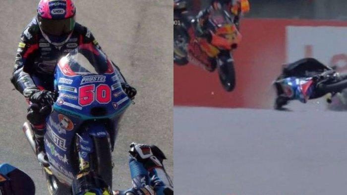 VIDEO Detik-detik Kecelakaan di Tikungan 9 Sirkuit Mugello, Jason Dupasquier Pembalap Moto3 Tewas