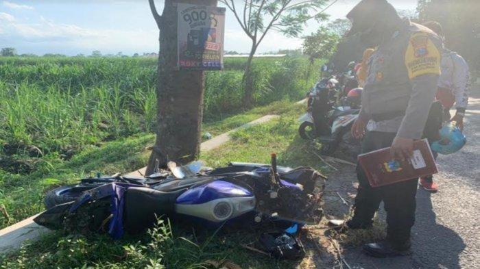 Kecelakaan Maut Pukul 15.00 WIB, Seorang Pemuda Tewas, Motornya Ngebut lalu Oleng Menabrak Pohon