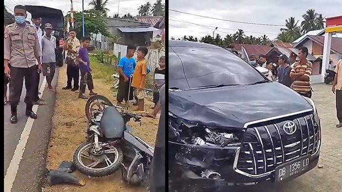 Kecelakaan Lalu Lintas di Bintauna Bolmut, Sepeda Motor VS Minibus, Ini Foto Kendaraan