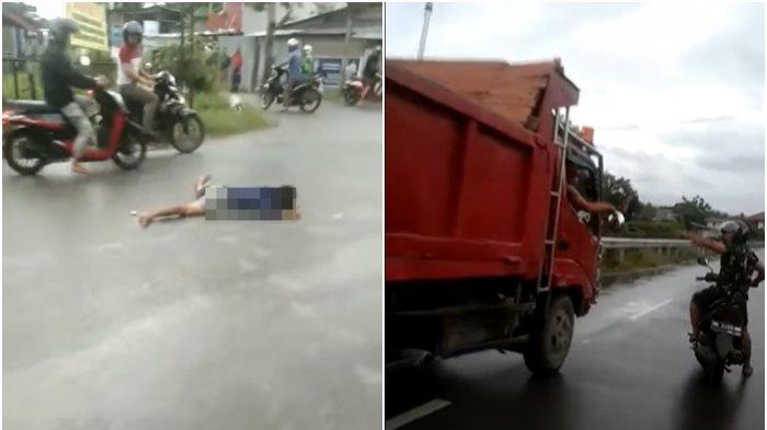 Kecelakaan Maut Tadi Pagi, Seorang Pria 19 Tahun Tewas di Tempat, Motor Korban Ngebut Menabrak Truk