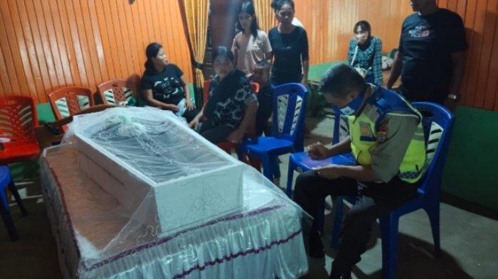 Kecelakaan Lalu Lintas di ruas Jalan Desa Niampak Kecamatan Beo selatan kabupaten kepulauan Talaud, Rabu (14/4/2021) sore