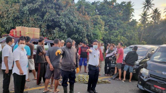 BREAKING NEWS, Kecelakaan Maut Desa Muntoi Bolaang Mongondow, 1 Warga Tewas di Tempat