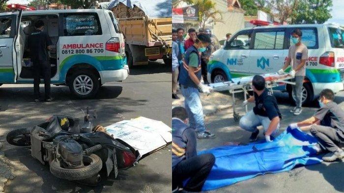 Kecelakaan Maut Tadi Siang, Seorang Gadis Remaja Tewas, Korban Terjatuh lalu Masuk Kolong Truk