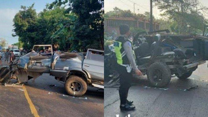 Kecelakaan Maut, 3 Penumpang Tewas, Mobil Minibus Tabrakan dengan Truk Tronton saat Hendak Menyalip