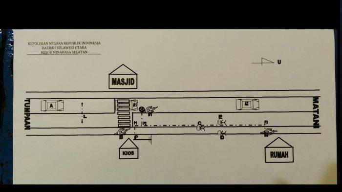 Kecelakaan Maut Mobil Plat Merah Pemkab Minsel Tabrak Yamaha Mio