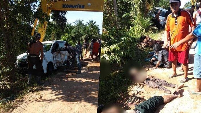 Kecelakaan Maut, Xenia Masuk Saluran Air, 4 Orang Tewas di Tempat, Penumpang Mobil Satu Keluarga