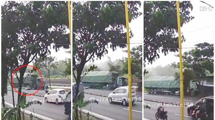 Kecelakaan Maut Pukul 06.00 WIB, Pemotor Tewas Terlindas Truk dari Belakang hingga Tabrak Warung