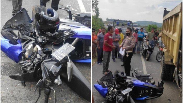 Kecelakaan Honda Vario vs Dump Truk PNS Tewas di Tempat, Motor Melebar ke Kanan saat Jalan Menikung