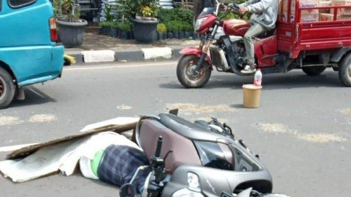 Kecelakaan Maut Tadi Pagi Pukul 10.30 WIB, Pemotor Scoopy Tewas Seketika, Nyalip Lalu Terlindas Bus