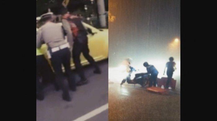 Kecelakaan Mudik Lebaran 2021, Mobil Tabrak Polisi hingga Pemudik Terjatuh Terobos Hujan Deras