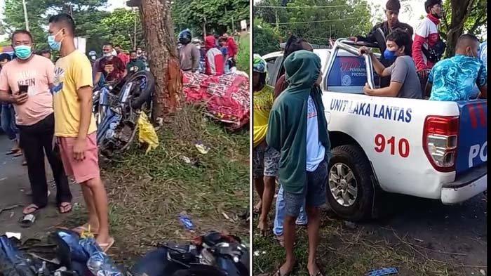 Breaking News, Kecelakaan di Jalan Manado-Bitung, Tabrakan 3 Sepeda Motor 1 Mobil