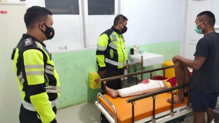 Kecelakaan di Talaud, Dua Pengendara Motor Tabrakan, 1 Putus Tangan