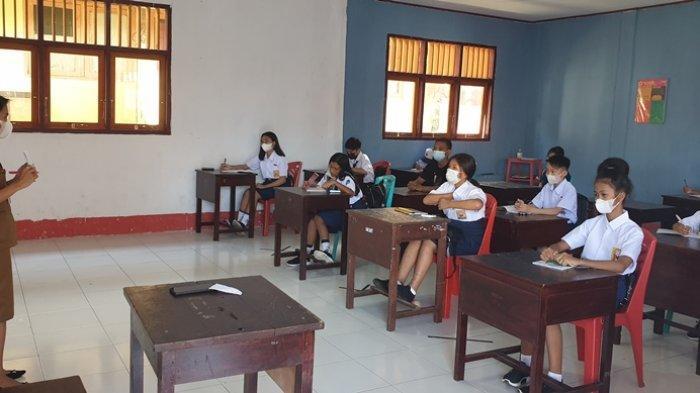 SD dan SMP di Kabupaten Sitaro Mulai KBM Tatap Muka Terbatas