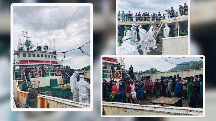 155 WNI dan 2 Jenazah Pekerja di Kapal Ikan Tiongkok Dipulangkan ke Sulut