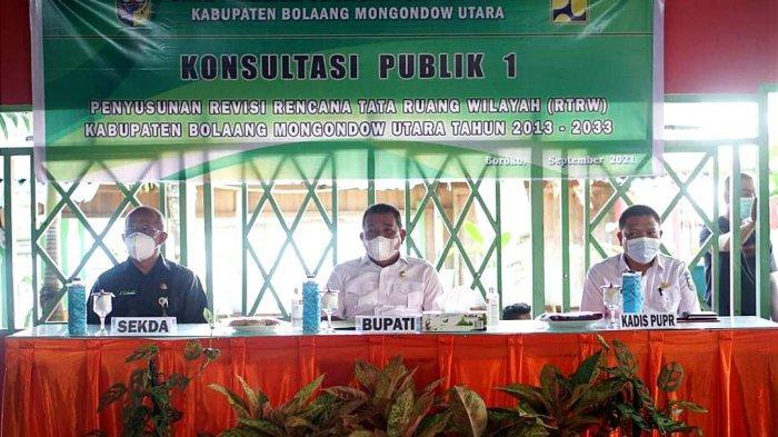 Bupati Depri Pontoh Sampaikan 3 Poin Penting Penyusunan Revisi RTRW di Kabupaten Bolmut